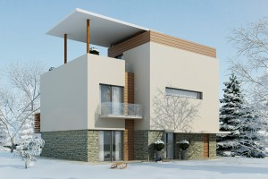 Проект небольшого дома Box