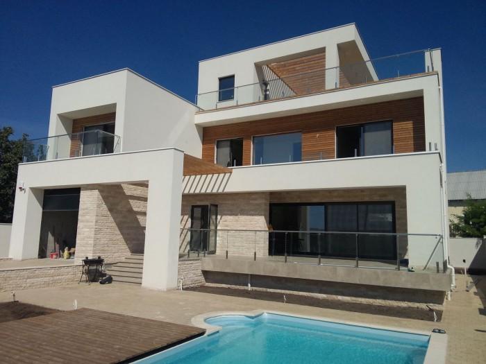Проект дома с видом на море - процесс строительства
