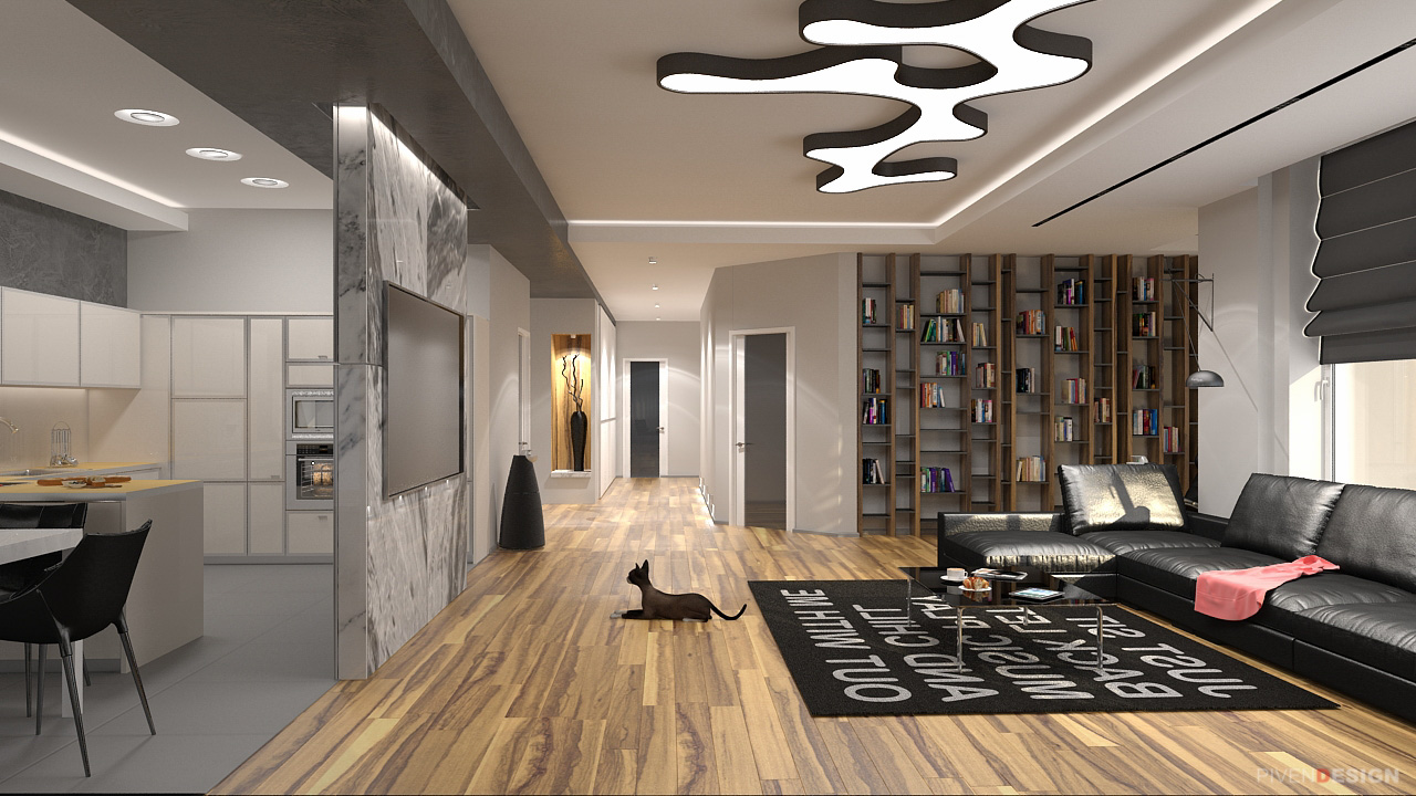 Дизайн интерьера четырех комнатной квартиры