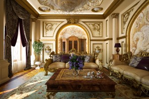 Интерьер комнаты отдыха в классическом стиле