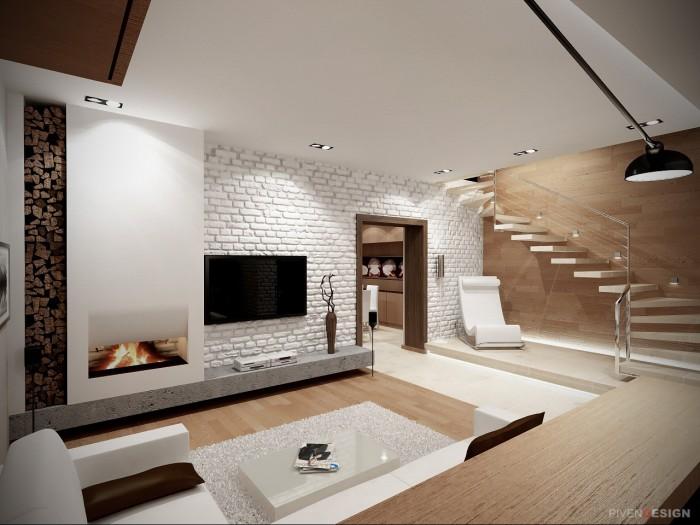 Лофт интерьер небольшого дома