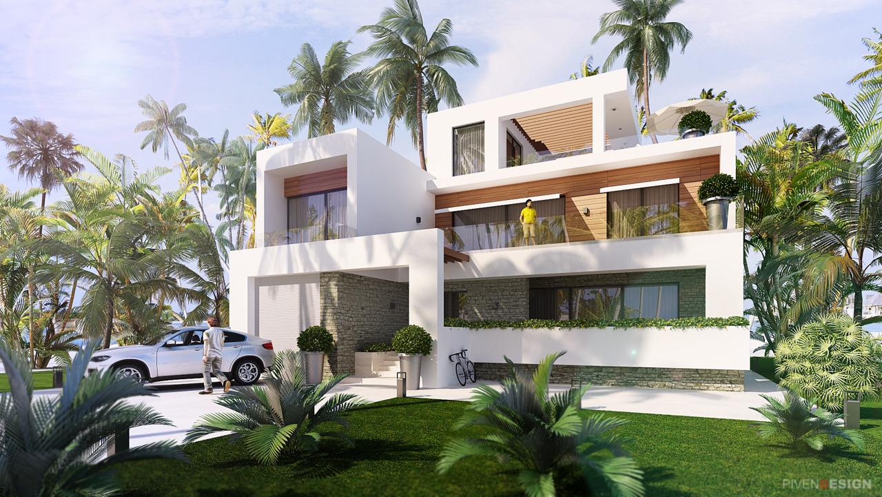 Проект дома с видом на море