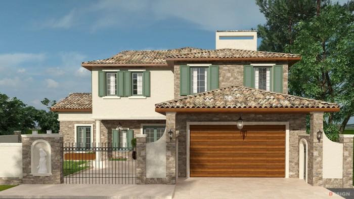 Проект двухэтажного дома в итальянском стиле -