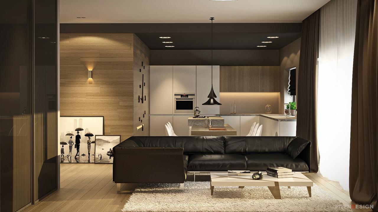 Интерьер небольшого дома для молодой семьи - проект Hamer