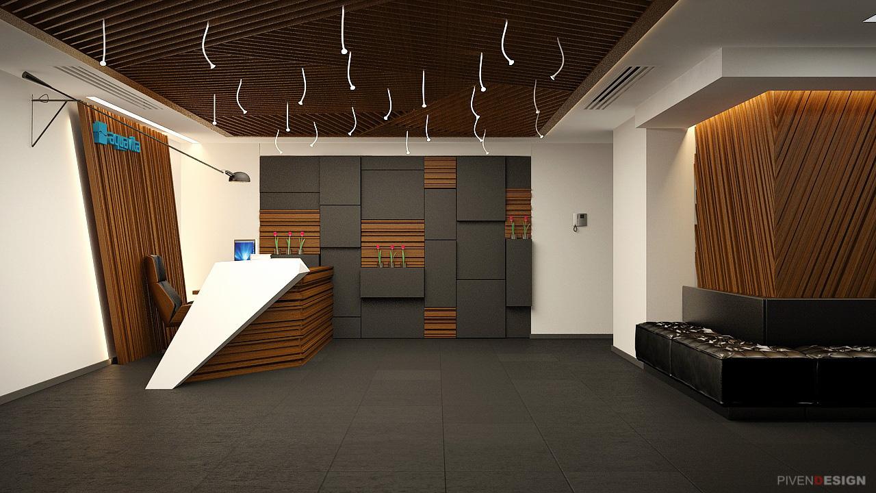 Несколько вариантов входной зоны крупного офиса