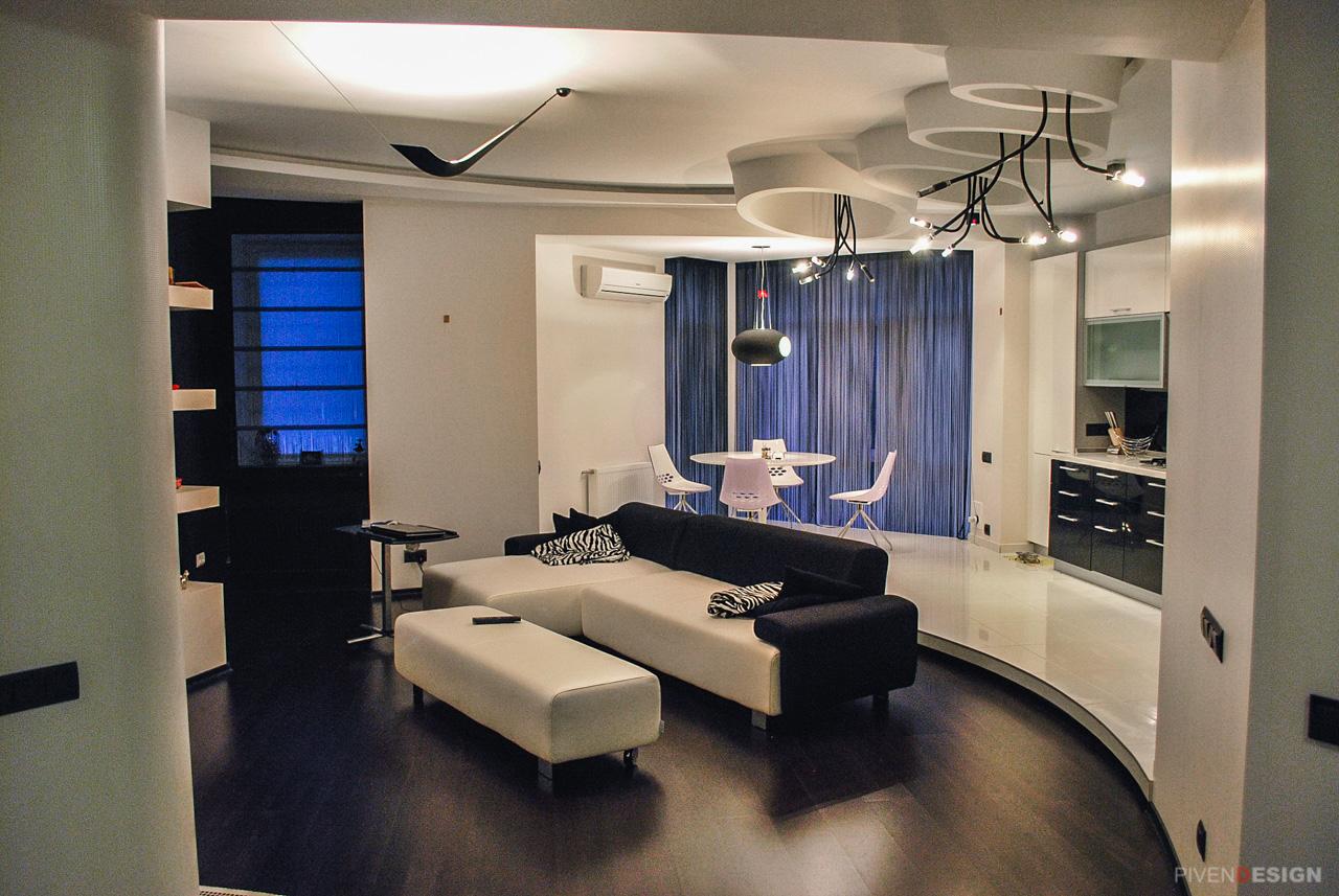 Интерьер двухуровневой квартиры-пентхаус - Фото