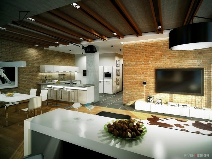 Дизайн интерьера трехкомнатной квартиры - проект